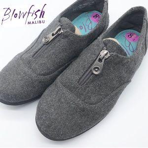 Blowfish charcoal Gray Half zip Loafer Shoe W8.5